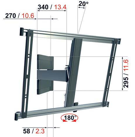 okazja uchwyt telewizora tv vogels thin 345 32 52. Black Bedroom Furniture Sets. Home Design Ideas