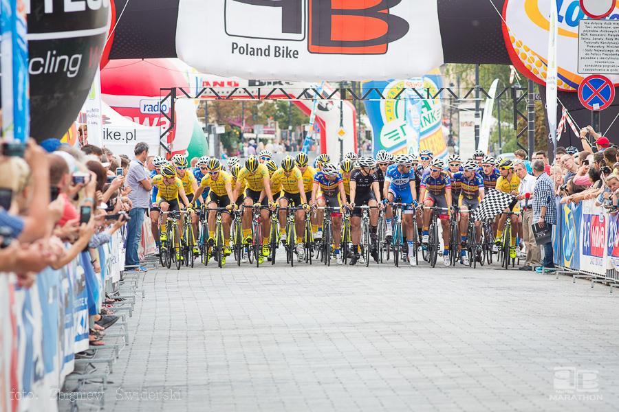 Wyścig kolarski na ulicach Warszawy