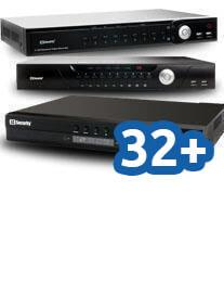 Rejestratory IP do 32 i więcej kanałów
