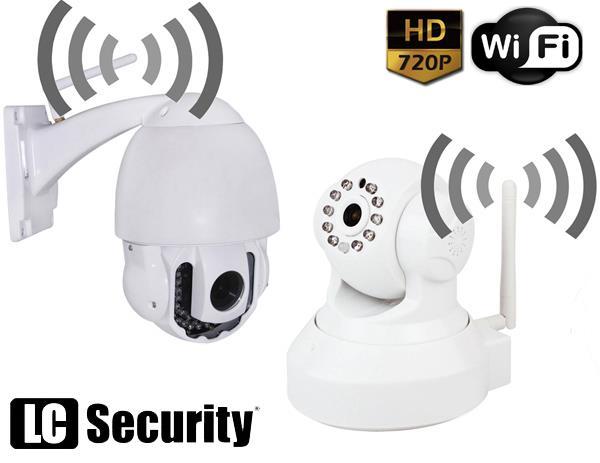 Megapikselowe kamery obrotowe IP z WiFi
