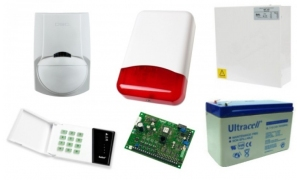 Alarm Satel CA-6 LED, 5xLC-100 PI, syg. zew. TI-700