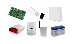 Alarm Satel CA-10 LED, GSM, 7xLC-100 PI, syg. zew. Beewell