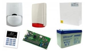 Alarm Satel CA-5 LED, 4xLC-100 PI, syg. zew. Beewell