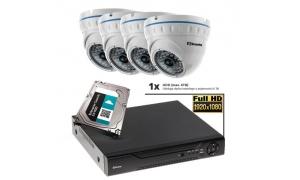 Zestaw - 4 kamery FullHD IP