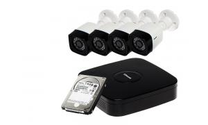 Zestaw 4 kamer LC-301 AHD + rejestrator + dysk 1TB