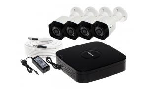 Zestaw 4 kamer LC-301 AHD + akcesoria