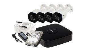 Zestaw 4 kamer LC-301 AHD + akcesoria + dysk 1TB