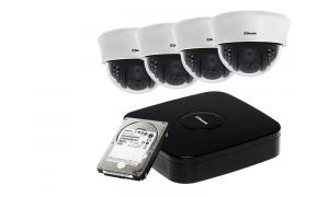 Zestaw 4 kamer LC-353 AHD + rejestrator + dysk 1TB