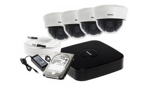 Zestaw 4 kamer LC-353 AHD + akcesoria + 1TB