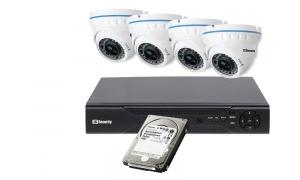 Zestaw 4 kamer LC-676 AHD + rejestrator + dysk 1TB