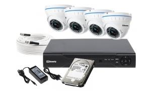 Zestaw 4 kamer LC-676 AHD + akcesoria + dysk 1TB
