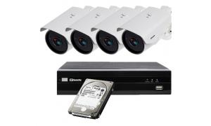 Zestaw 4 x LC-256-IP POE + rejestrator + dysk 1TB