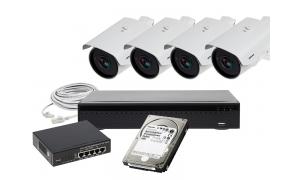 Zestaw 4 x LC-400 IP PoE + akcesoria + dysk 1TB
