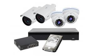 Zestaw 2xLC-400 IP + 2xLC-444 IP + akcesoria + 1TB