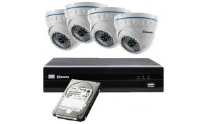 Zestaw 4 kamer LC-141-IP + rejestrator + dysk 1TB