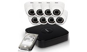 Zestaw 8 kamer LC-304 AHD + rejestrator + dysk 1TB