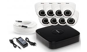 Zestaw 8 kamer LC-304 AHD + akcesoria