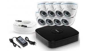 Zestaw 8 kamer LC-141 AHD + akcesoria