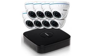 Zestaw 8 kamer LC-676 AHD + rejestrator