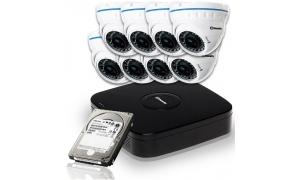 Zestaw 8 kamer LC-676 AHD + rejestrator + dysk 1TB