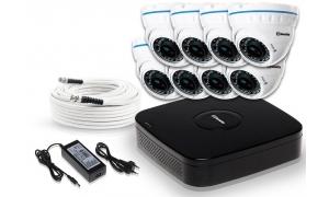 Zestaw 8 kamer LC-676 AHD + akcesoria