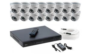 Zestaw 16 kamer LC-141 AHD PREMIUM + akcesoria