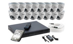 Zestaw 16 kamer LC-141 AHD PREMIUM + akcesoria + dysk 1TB