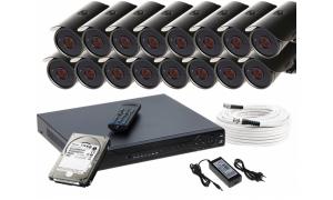 Zestaw 16 kamer LC-511 AHD + akcesoria + dysk 1TB