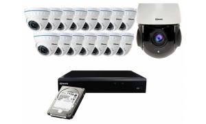 Zestaw 15xLC-676 AHD PREMIUM + LC-HDX24 AHD + rejestrator + 1TB