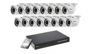 Zestaw 16 kamer LC-151 IP POE + rejestrator + dysk 1TB