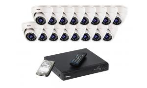 Zestaw 16 kamer LC-344 IP POE + rejestrator + dysk 1TB