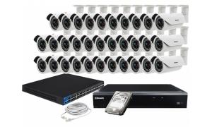 Zestaw 32 kamer LC-155 IP POE + akcesoria + dysk 1TB