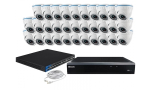 Zestaw 32 kamer LC-244 IP POE + akcesoria
