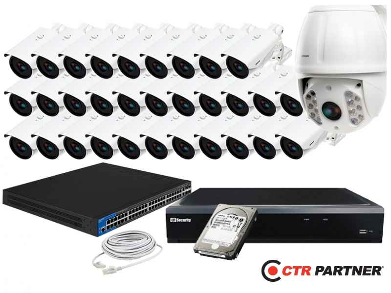 Zestaw 31xLC-366 IP POE + LC-HDX40 IP + akcesoria + 1TB