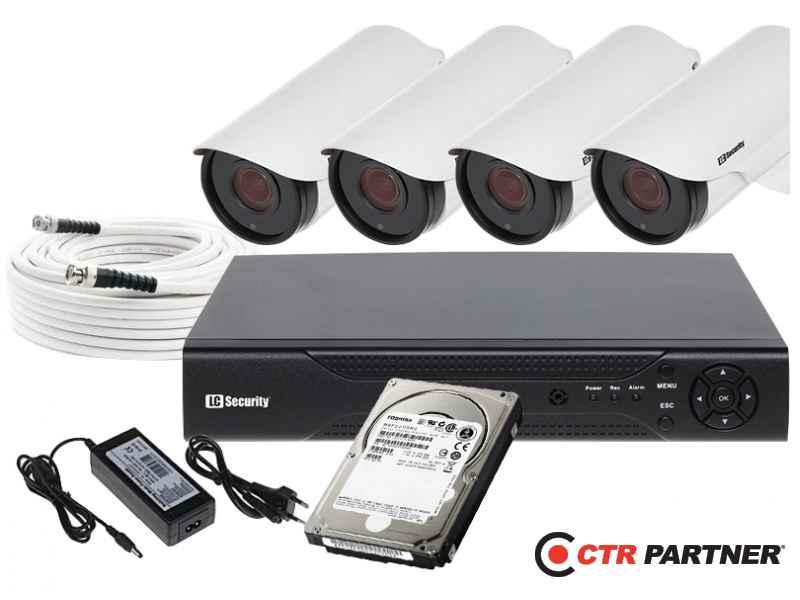 Zestaw 4 kamer LC-RXD501 + akcesoria + 1TB